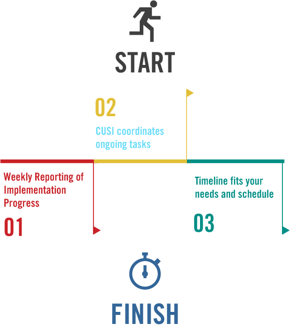 CUSI's implementation phases